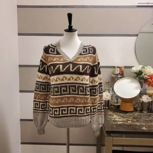 Hand Made Super Soft Alpaca Wool Sweater Sz M